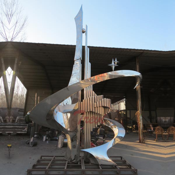 big Saudi Arabia mirror polished steel sculptures for hotel