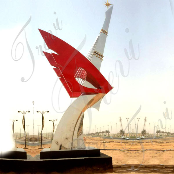 large Saudi Arabia high polished metal sculpture manufacturers
