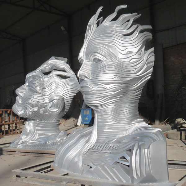 large mirror polished stainless steel art sculptures Saudi Arabia
