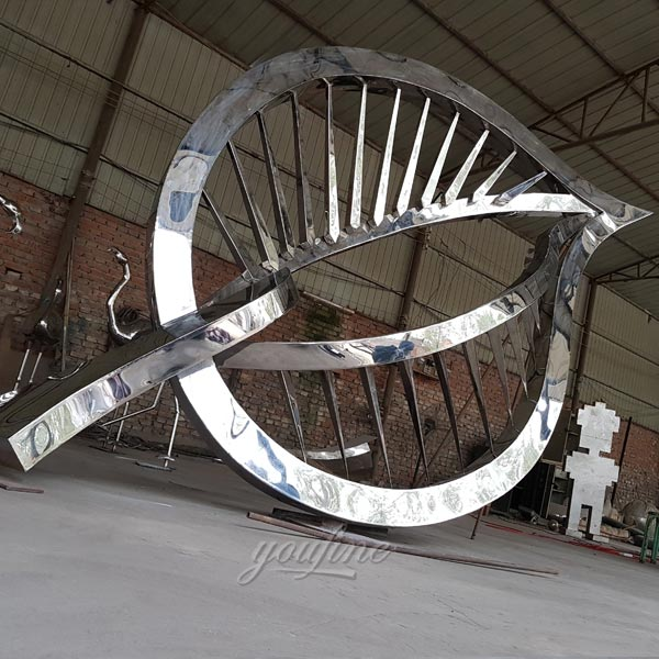 Contemporary Stainless Steel Art Sculptures , Ring Sculpture ...