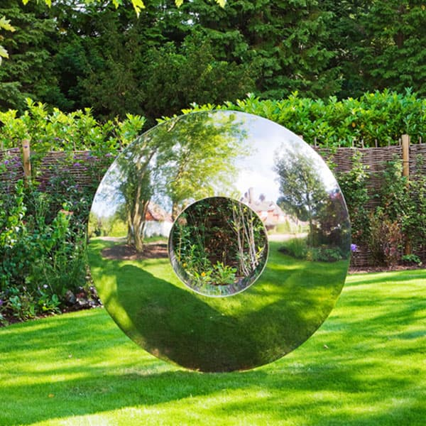 High polished mirror outdoor large modern metal sculpture for ...