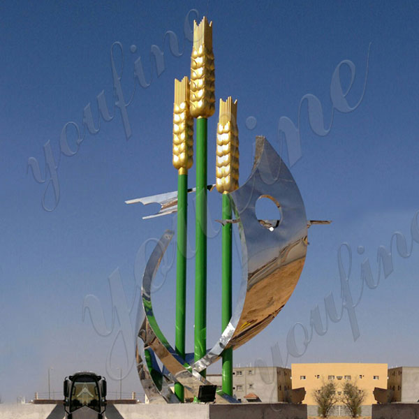 lawn high polished ss sculpture for home decor Saudi Arabia