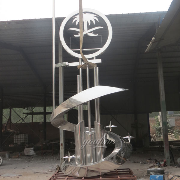Modern large outdoor stainless steel metal sculpture for ...