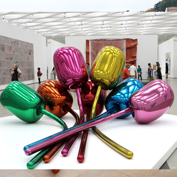 Jeff Koons balloon tulip metal art stainless steel sculpture replica TSS-11
