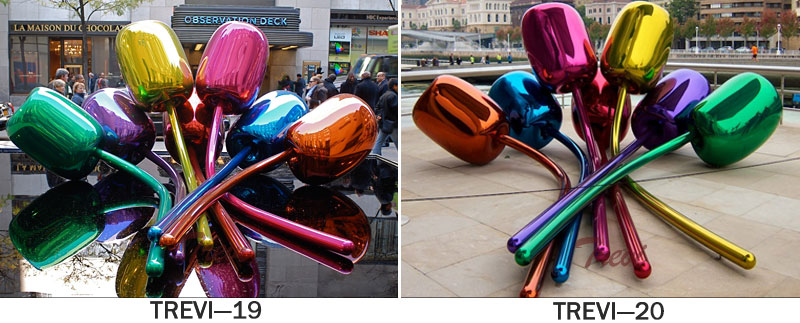 Jeff Koons metal art balloon tulip stainless steel sculpture replica for sale