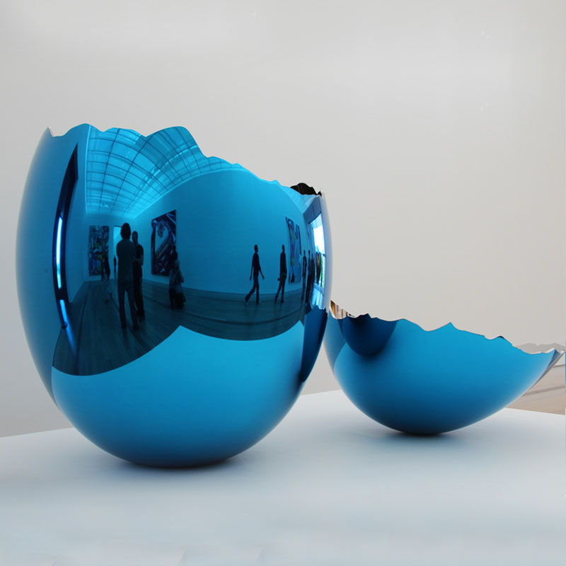 Jeff koons cracked egg(blue) contemporary metal artworks replicas