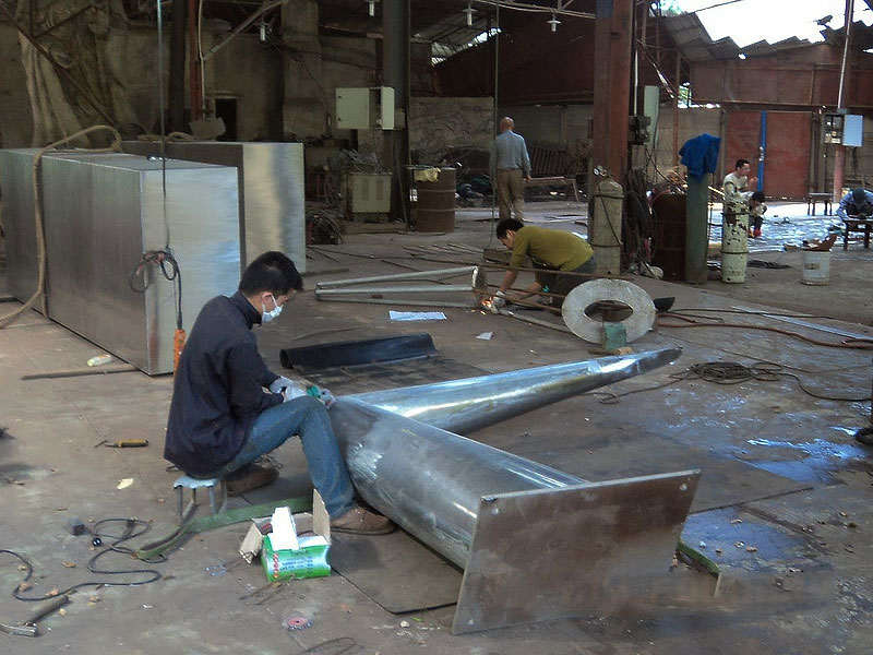 fabrication stainless steel sculpture