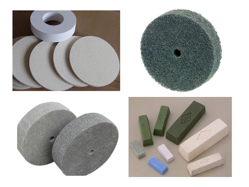polishing wheel, cotton wheel, non-woven wheel and polishing paste