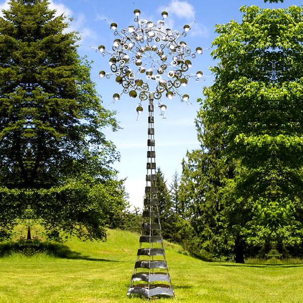 Costco metal wind spinner kinetic garden sculpture stainless steel replica TSS-23