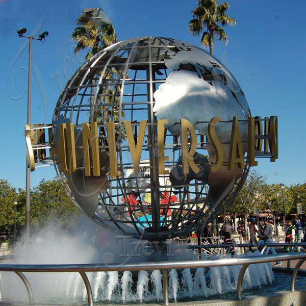 Modern art polished stainless steel metal globe sculpture price TSS-25