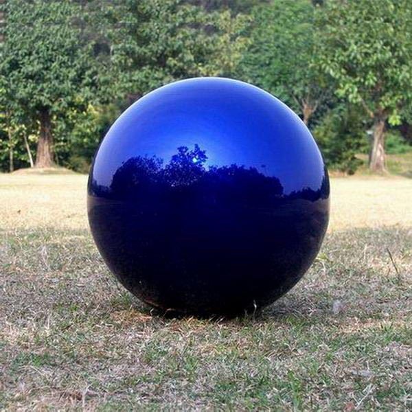 large stainless steel balls(blue) for garden decor TSS-29
