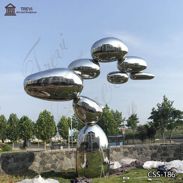 Large Outdoor Abstract Mirror Stainless Steel Sculpture Factory Supply CSS-186