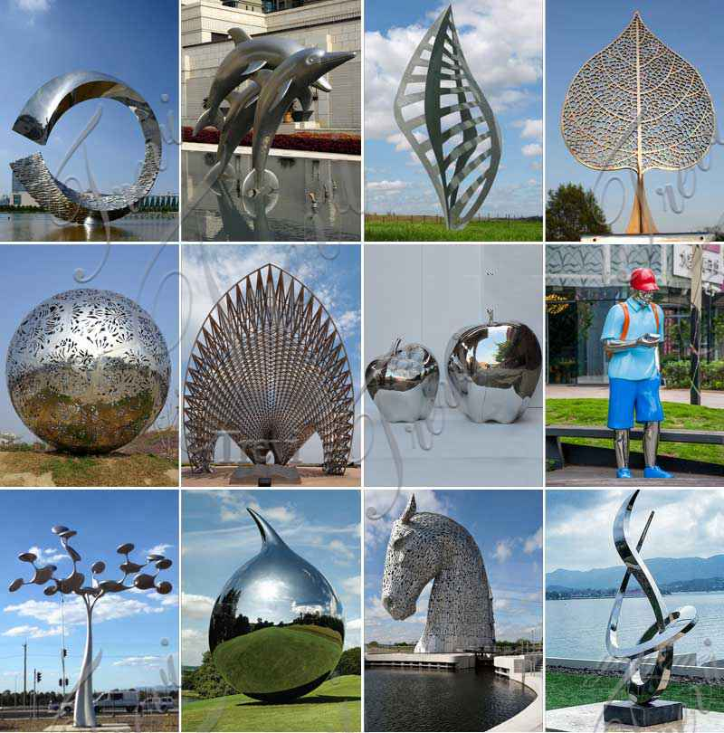 Large Outdoor Fountain Stainless Steel Sculpture Factory