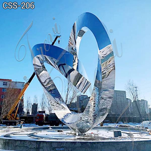 Modern Polished Large Outdoor Metal Sculptures for Sale for Shopping Mall CSS-206