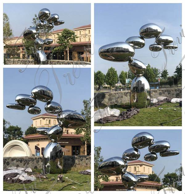 Outdoor Abstract Mirror Stainless Steel Sculpture Factory Supply