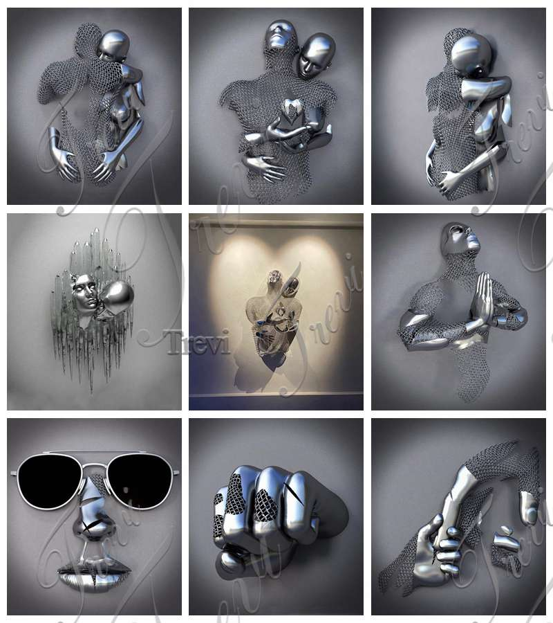 Hot Selling Love Design Abstract Stainless Steel Figure Sculpture Factory Supply