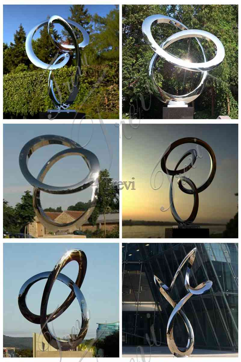 Abstract Large Metal Sculptures for Public Park