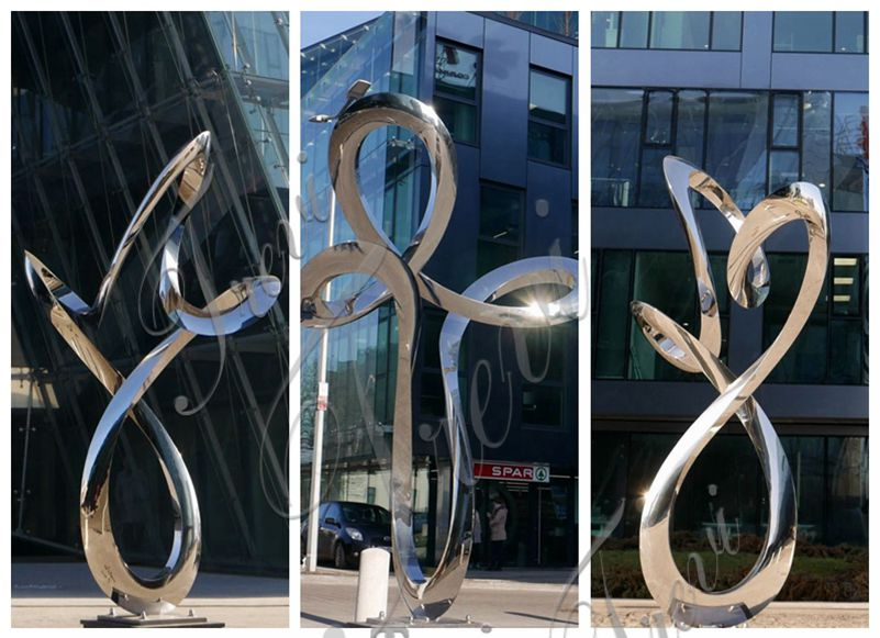 Large Metal Sculptures for Public Park Stainless Steel Sculpture Factory CSS-220