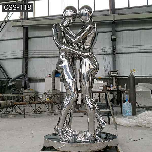 Large Stainless Steel Figure Sculpture Outdoor Metal Sculptures for Sale CSS-118