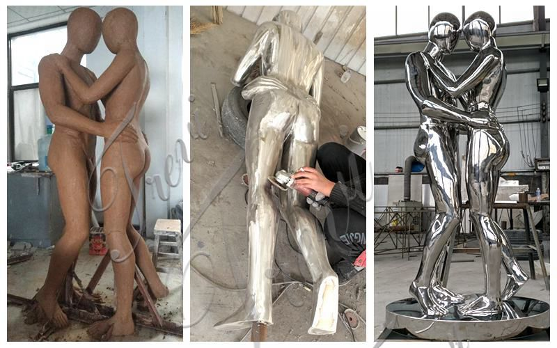 Large Stainless Steel Figure Sculpture Outdoor Metal Sculptures