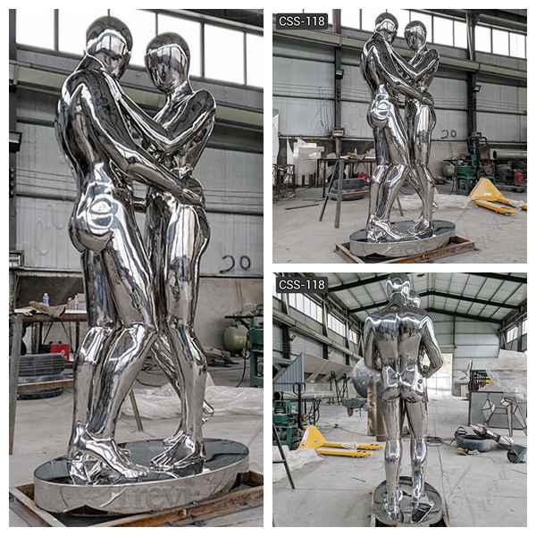 Stainless Steel Figure Sculpture Outdoor Metal Sculptures for Sale