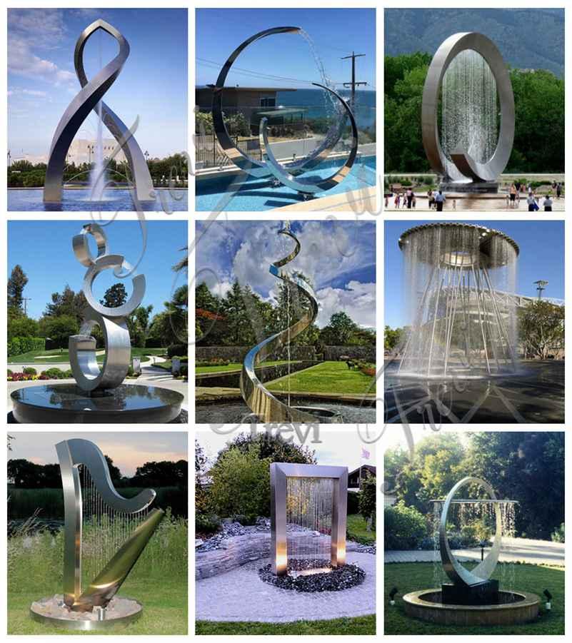 Outdoor Hotel Garden Metal Sculpture Fountain Decor for Sale