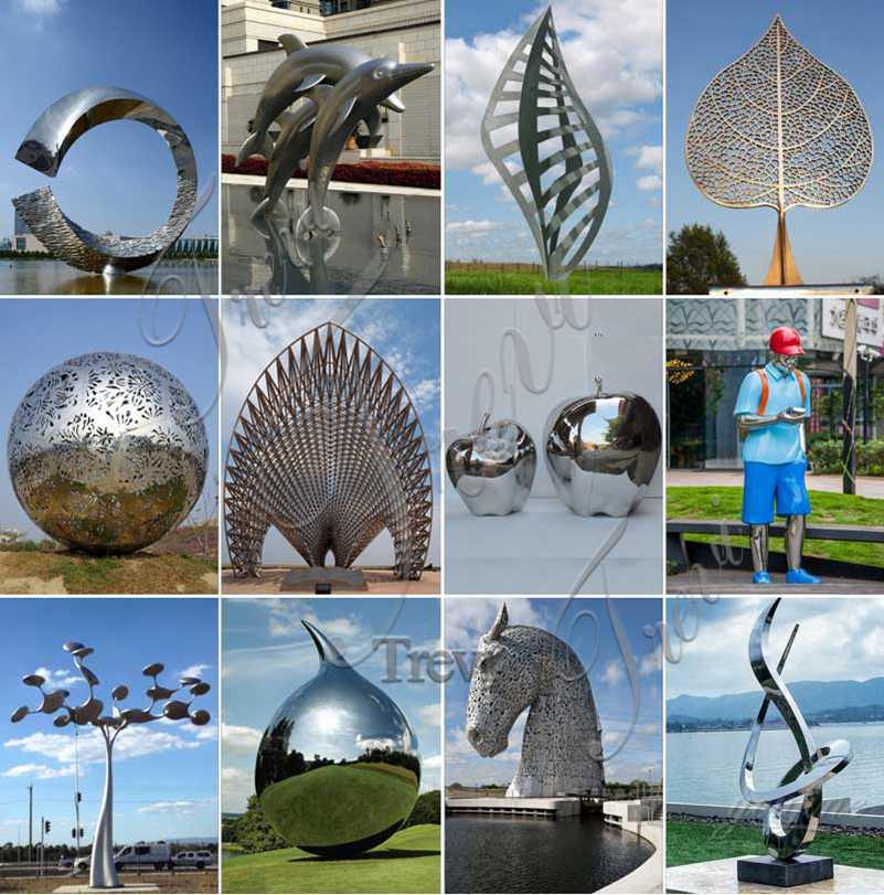 Modern Metal Cube Garden Sculptures Stainless Steel Sculpture Factory