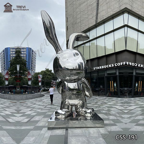 Modern Large Metal Rabbit Sculpture for Garden for Sale CSS-191