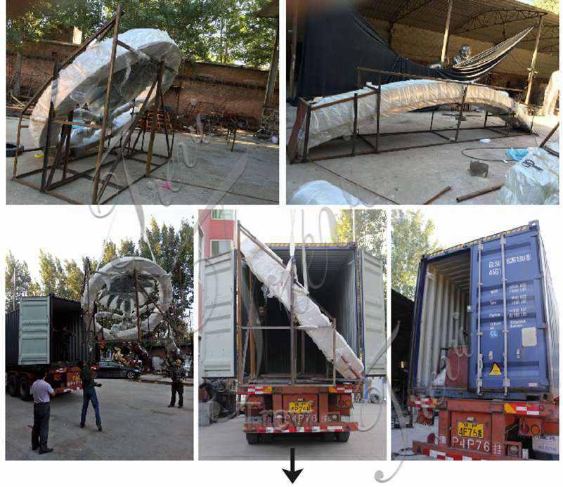 packing of modern metal sculpture