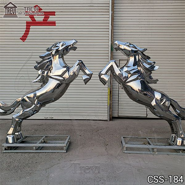 Large Metal Horse Sculpture for Garden Decor for Sale CSS-184