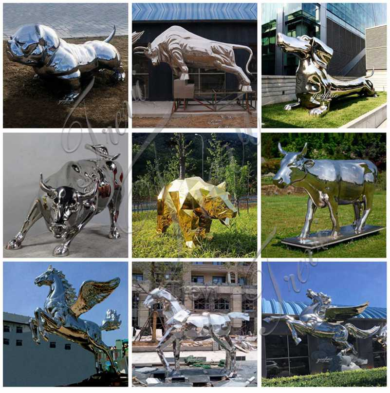 metal animal sculptures for sale