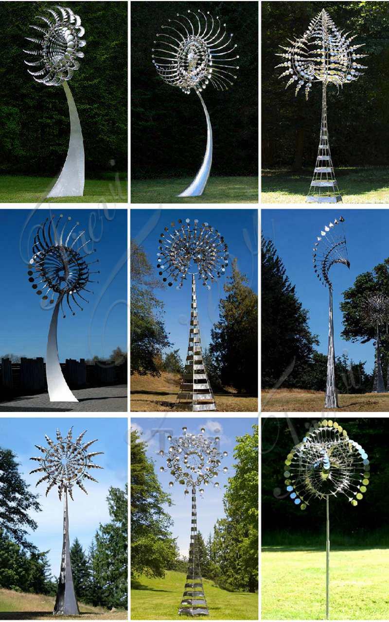 large kinetic wind sculpture