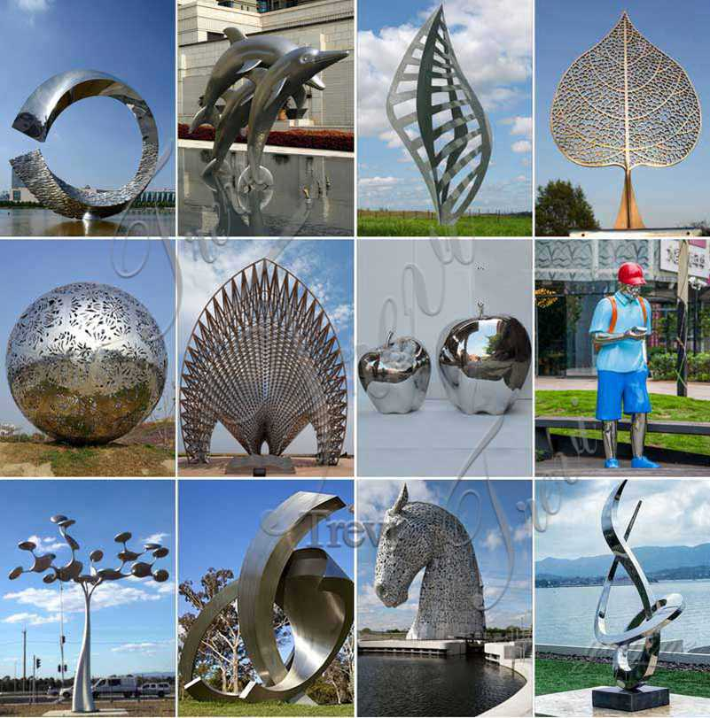 Mirror Stainless Steel Sculpture Plaza Decor for Sale