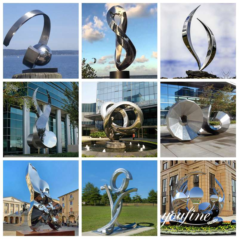 Abstract Metal Sculpture for Outdoors for Sale