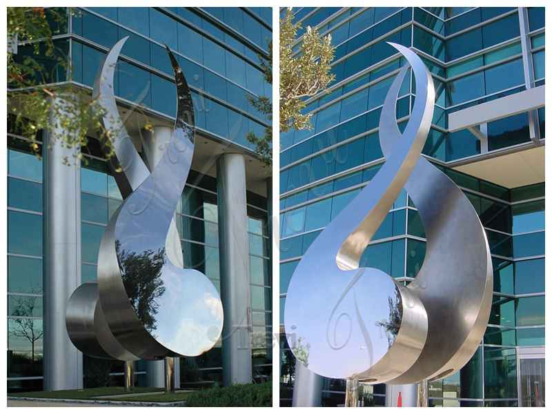Abstract Metal Sculpture for Outdoors