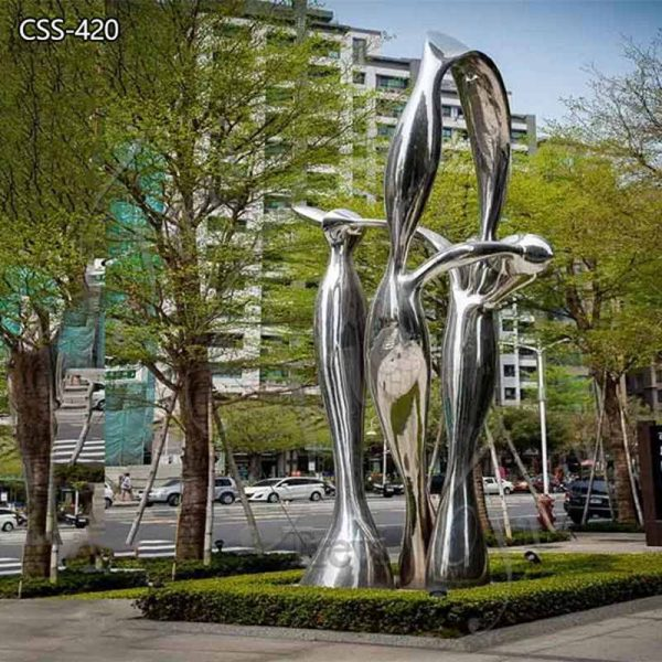 Modern Polished Large Metal Outdoor Sculpture on Sale CSS-420
