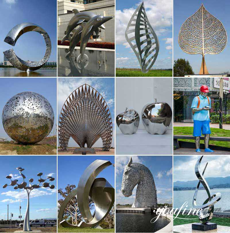 metal garden sculptures
