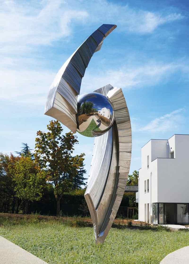 Modern Large Metal Garden Sculptures